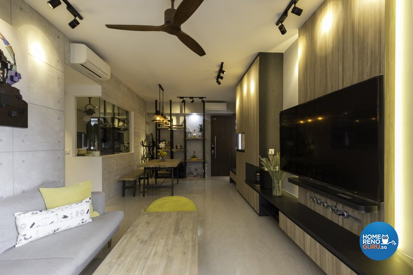 Industrial Design - Living Room - Condominium - Design by Starry Homestead Pte Ltd
