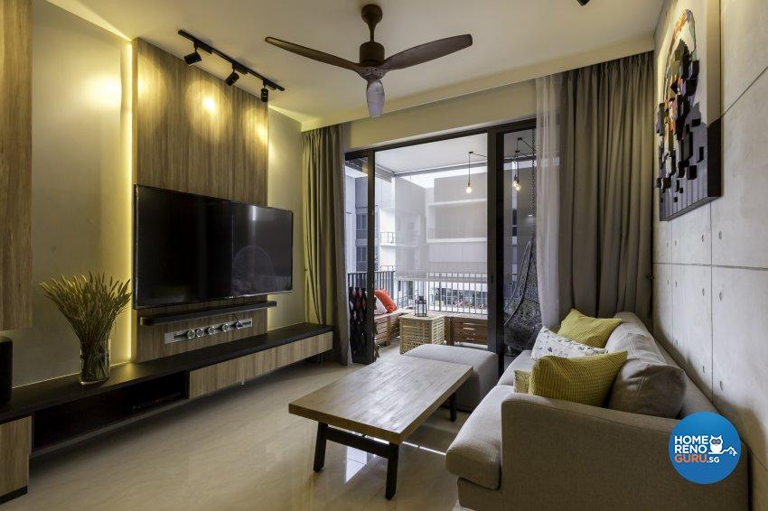 Industrial Design - Living Room - Condominium - Design by Starry Homestead Pte Ltd