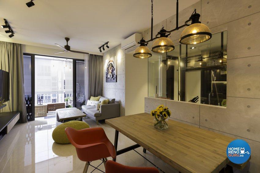 Industrial Design - Dining Room - Condominium - Design by Starry Homestead Pte Ltd