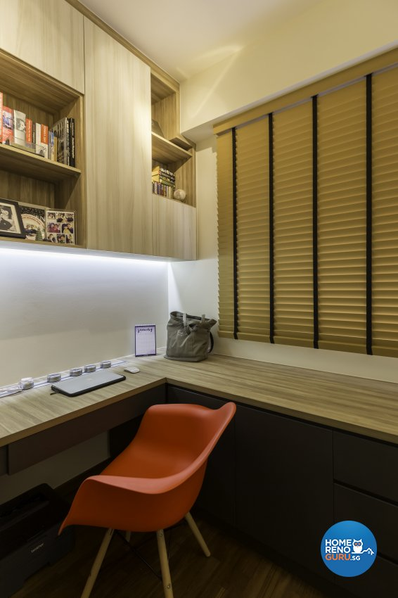 Industrial Design - Study Room - Condominium - Design by Starry Homestead Pte Ltd