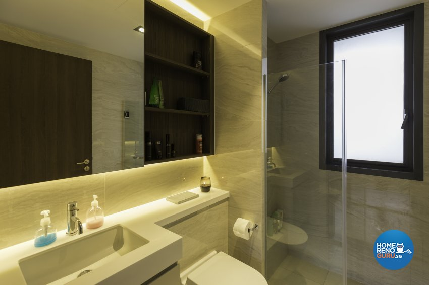 Industrial Design - Bathroom - Condominium - Design by Starry Homestead Pte Ltd