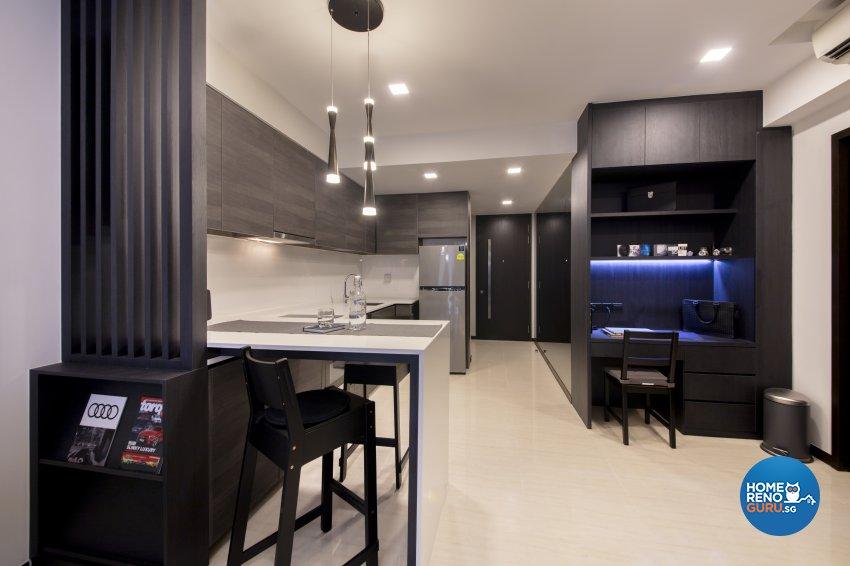 Minimalist, Modern Design - Kitchen - Condominium - Design by Starry Homestead Pte Ltd