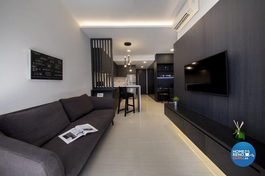 Minimalist, Modern Design - Living Room - Condominium - Design by Starry Homestead Pte Ltd