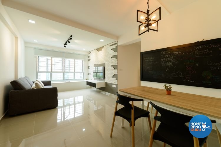 Minimalist, Modern, Scandinavian Design - Living Room - HDB 4 Room - Design by Starry Homestead Pte Ltd