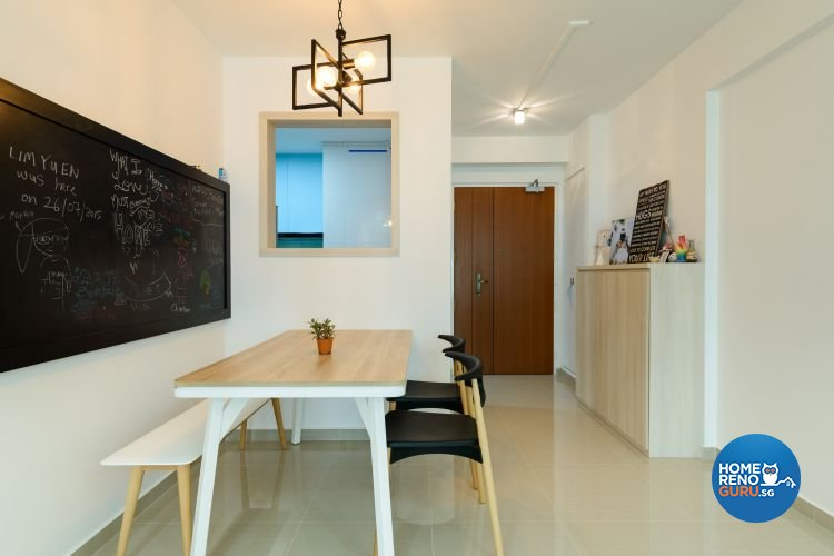 Minimalist, Modern, Scandinavian Design - Dining Room - HDB 4 Room - Design by Starry Homestead Pte Ltd