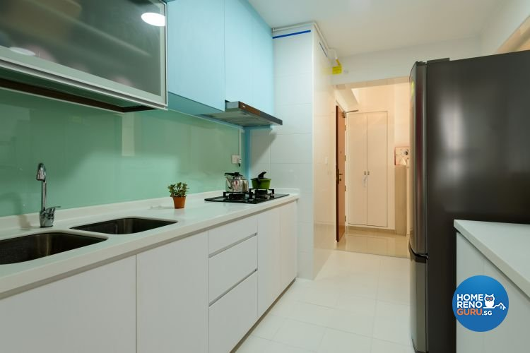 Minimalist, Modern, Scandinavian Design - Kitchen - HDB 4 Room - Design by Starry Homestead Pte Ltd