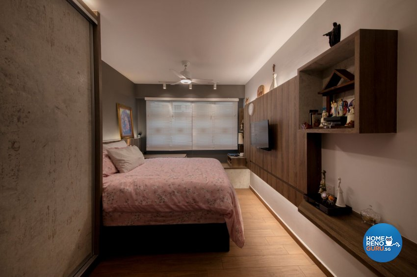 Rustic Design - Bedroom - HDB 5 Room - Design by Starry Homestead Pte Ltd