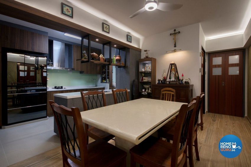 Rustic Design - Dining Room - HDB 5 Room - Design by Starry Homestead Pte Ltd
