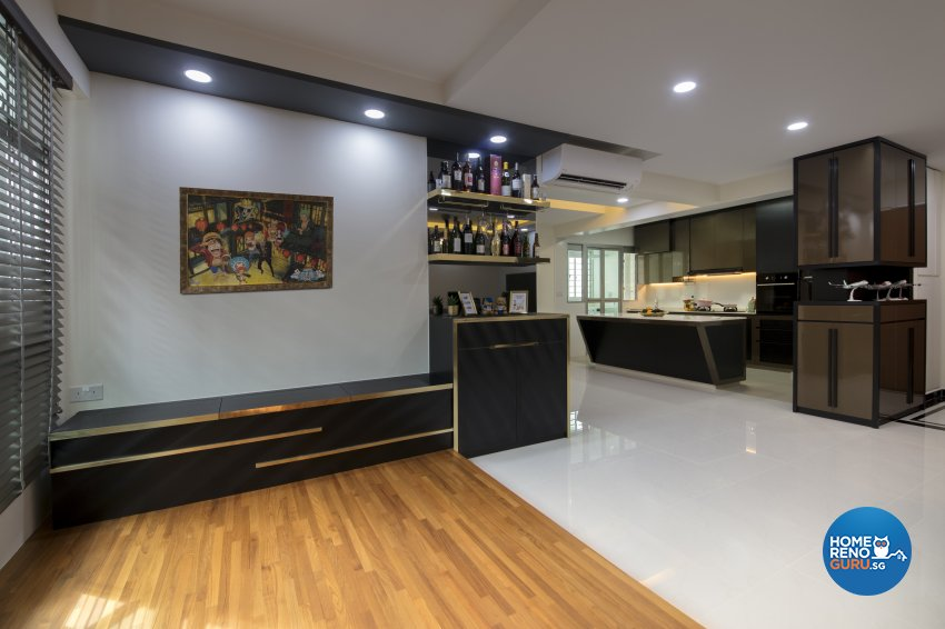 Modern Design - Entertainment Room - HDB 3 Room - Design by Starry Homestead Pte Ltd