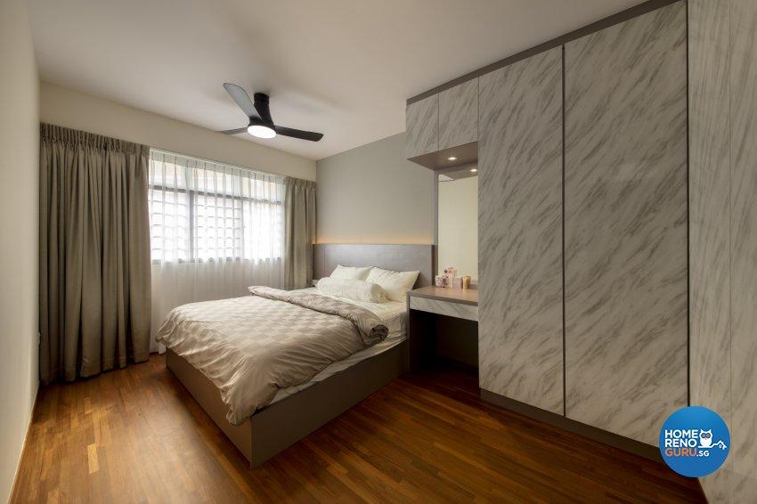 Modern Design - Bedroom - HDB 3 Room - Design by Starry Homestead Pte Ltd