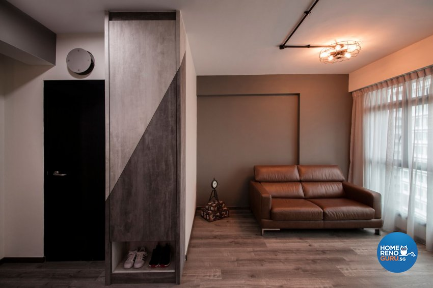 Industrial Design - Living Room - HDB 3 Room - Design by Starry Homestead Pte Ltd