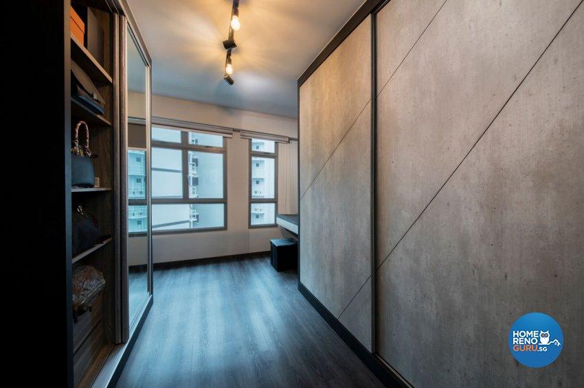 Industrial Design - Bedroom - HDB 3 Room - Design by Starry Homestead Pte Ltd