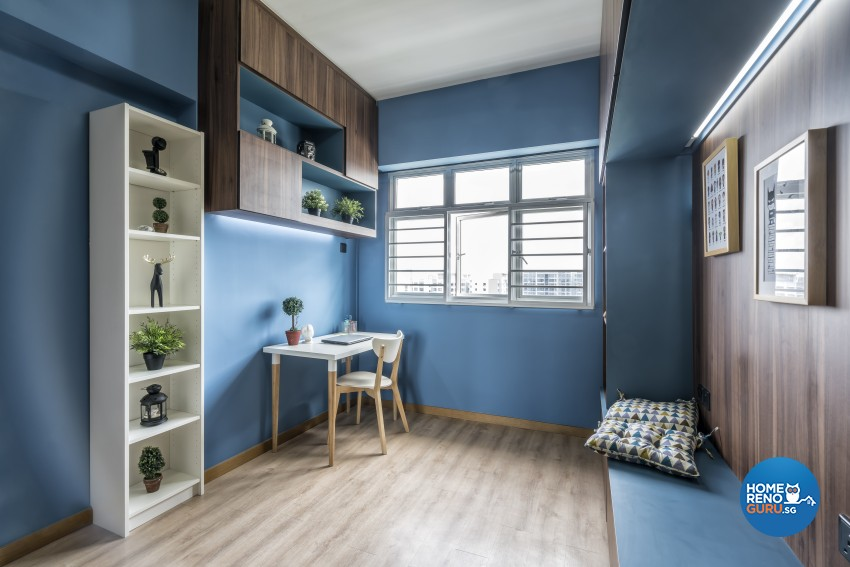 Rustic Design - Study Room - HDB 4 Room - Design by Starry Homestead Pte Ltd