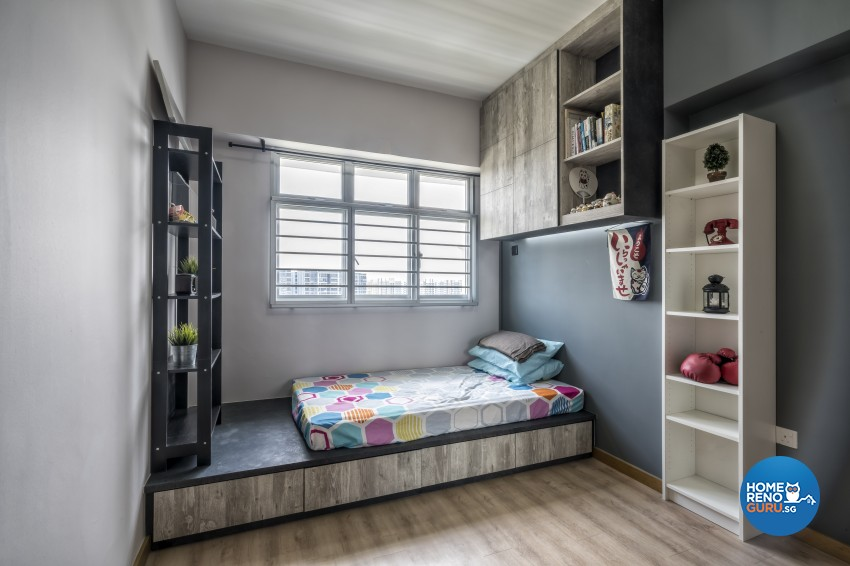 Rustic Design - Bedroom - HDB 4 Room - Design by Starry Homestead Pte Ltd