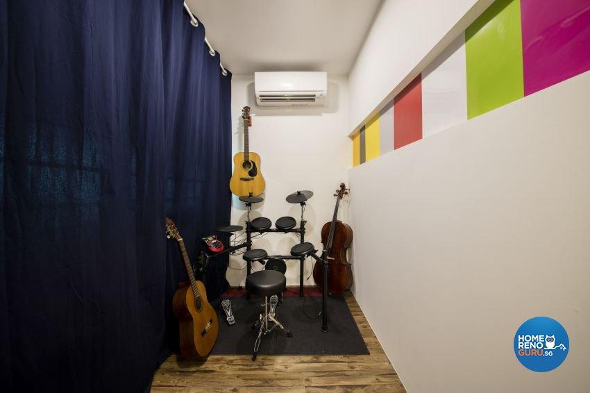 Minimalist, Scandinavian Design - Entertainment Room - HDB 4 Room - Design by Starry Homestead Pte Ltd