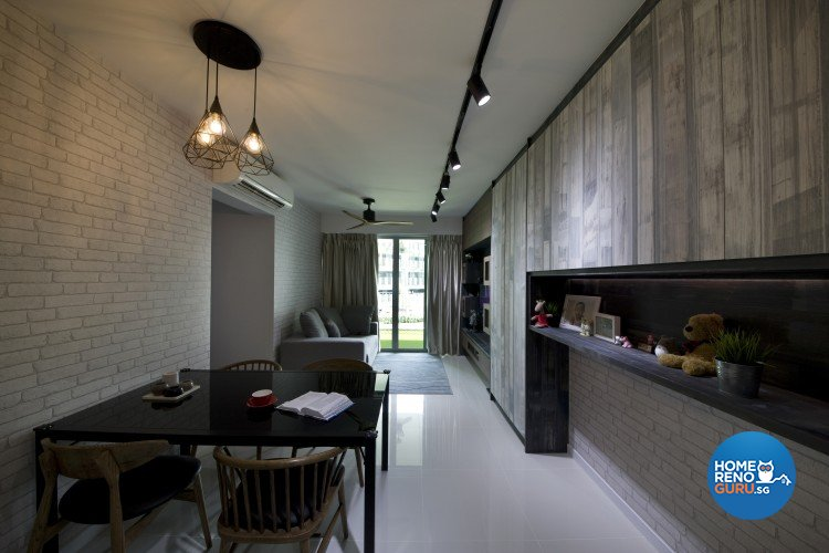 Modern, Scandinavian Design - Living Room - HDB 4 Room - Design by Starry Homestead Pte Ltd