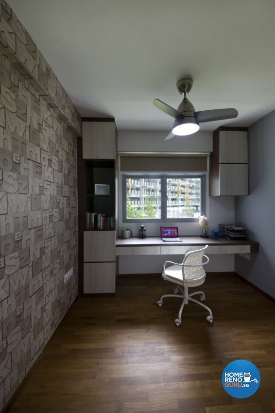 Modern, Scandinavian Design - Study Room - HDB 4 Room - Design by Starry Homestead Pte Ltd