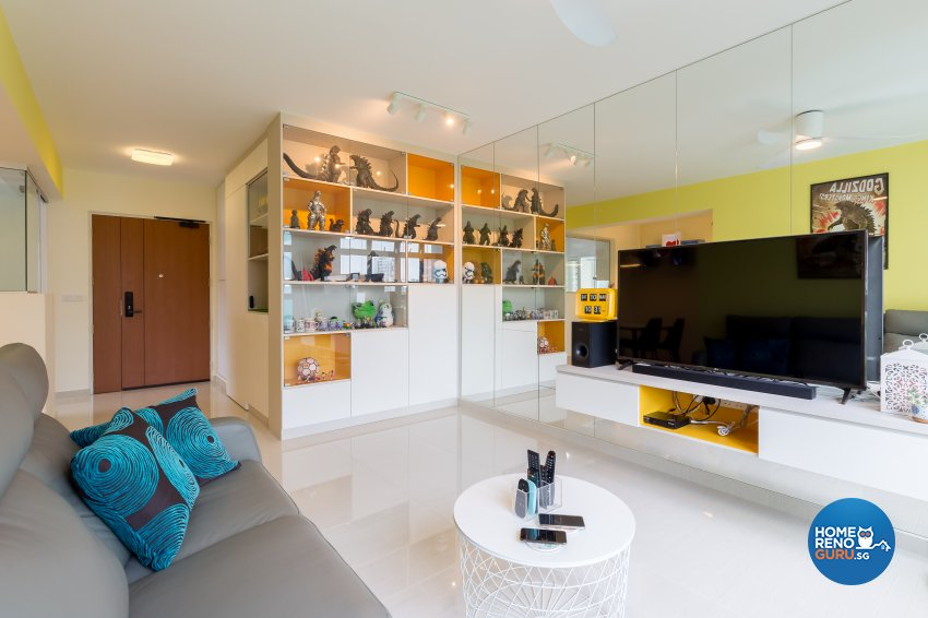 Modern Design - Living Room - HDB 4 Room - Design by Starry Homestead Pte Ltd