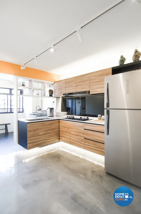 Modern, Rustic, Vintage Design - Kitchen - HDB 4 Room - Design by Starry Homestead Pte Ltd