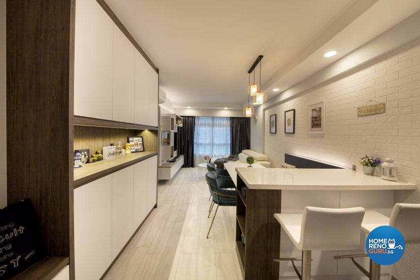 Scandinavian Design - Living Room - HDB 4 Room - Design by Starry Homestead Pte Ltd