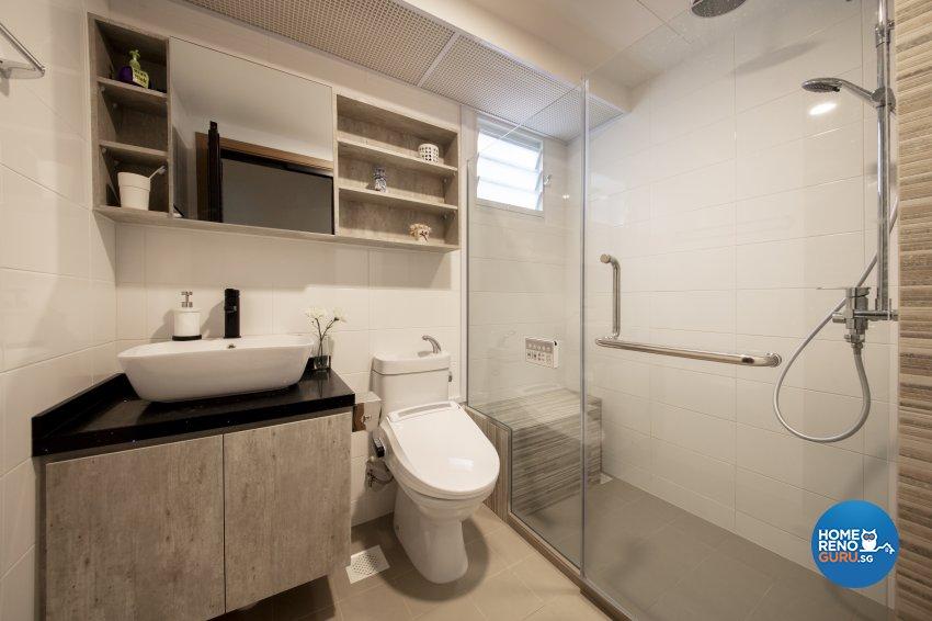 Scandinavian Design - Bathroom - HDB 4 Room - Design by Starry Homestead Pte Ltd