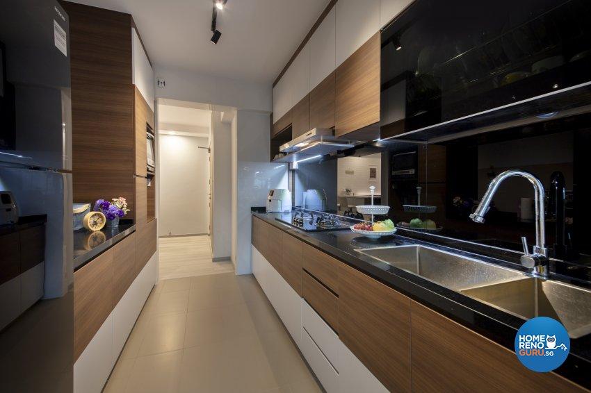 Scandinavian Design - Kitchen - HDB 4 Room - Design by Starry Homestead Pte Ltd