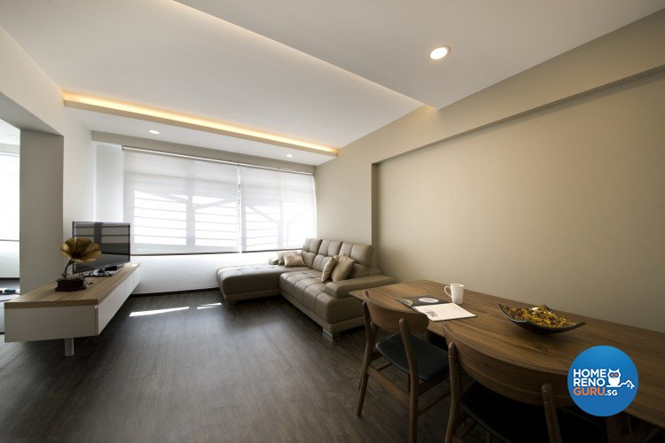 Minimalist, Scandinavian Design - Living Room - HDB 4 Room - Design by Starry Homestead Pte Ltd