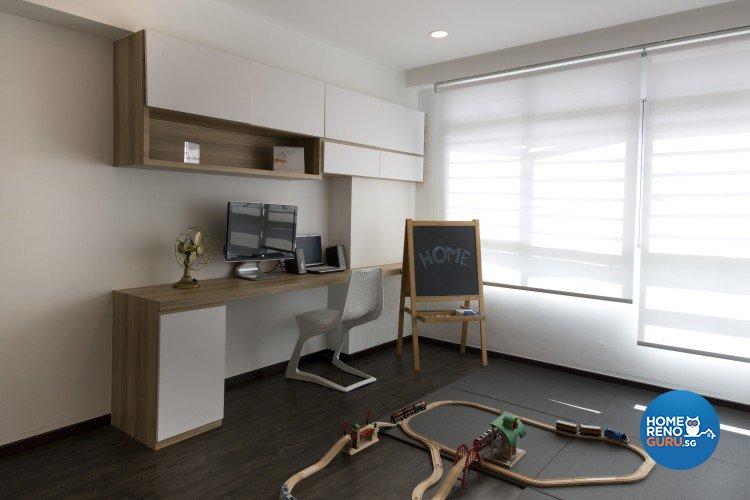 Minimalist, Scandinavian Design - Study Room - HDB 4 Room - Design by Starry Homestead Pte Ltd