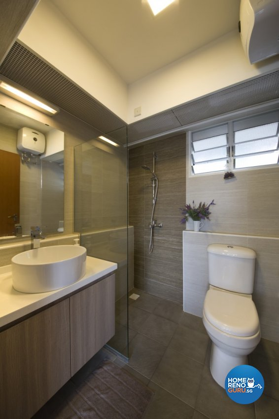 Minimalist, Scandinavian Design - Bathroom - HDB 4 Room - Design by Starry Homestead Pte Ltd