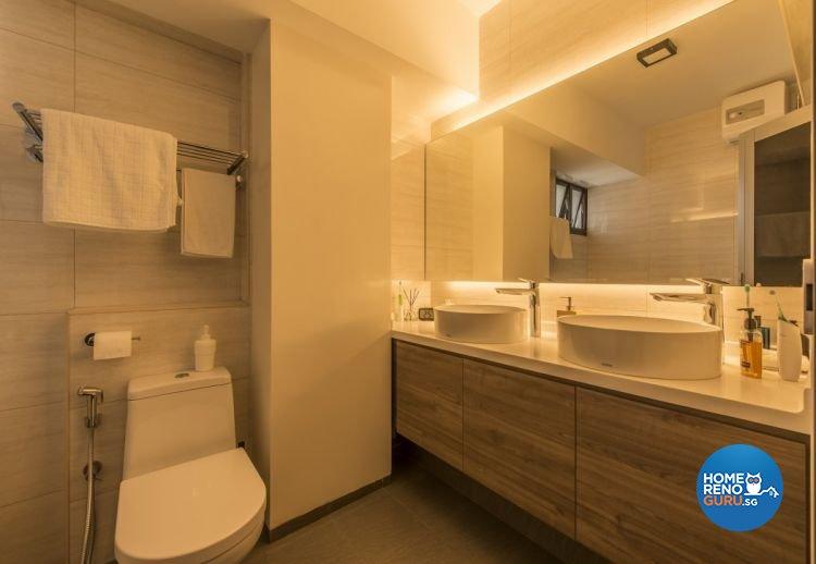 Modern, Scandinavian Design - Bathroom - HDB 4 Room - Design by Starry Homestead Pte Ltd