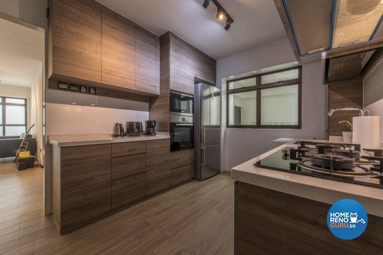 Modern, Scandinavian Design - Kitchen - HDB 4 Room - Design by Starry Homestead Pte Ltd