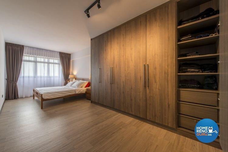 Modern, Scandinavian Design - Bedroom - HDB 4 Room - Design by Starry Homestead Pte Ltd