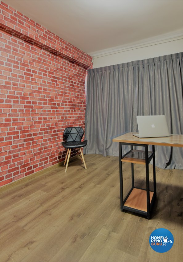 Industrial, Minimalist Design - Study Room - HDB 5 Room - Design by Starry Homestead Pte Ltd
