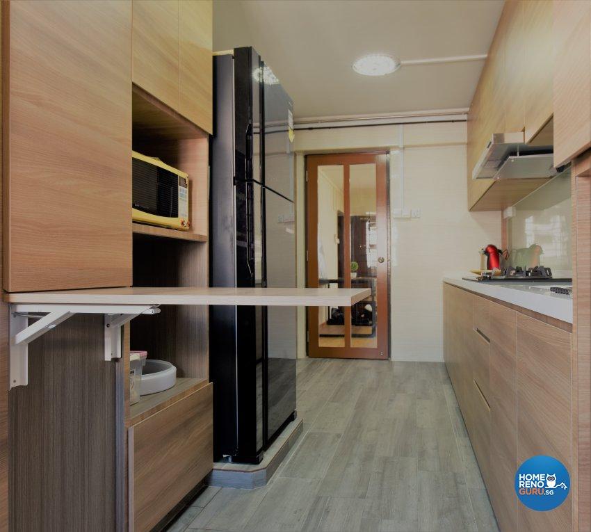 Industrial, Minimalist Design - Kitchen - HDB 5 Room - Design by Starry Homestead Pte Ltd