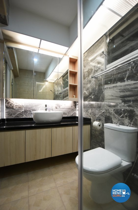 Eclectic Design - Bathroom - HDB 5 Room - Design by Starry Homestead Pte Ltd