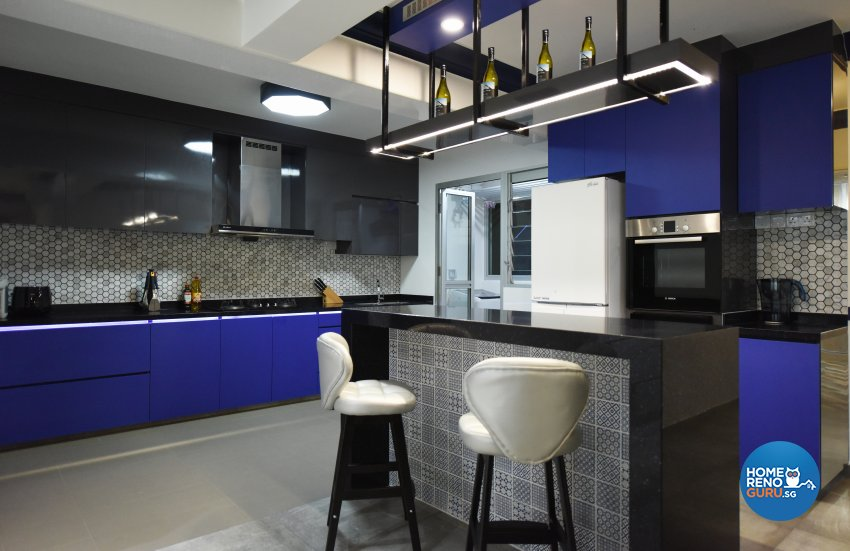 Eclectic Design - Kitchen - HDB 5 Room - Design by Starry Homestead Pte Ltd