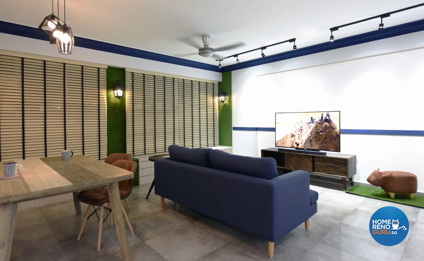 Eclectic Design - Living Room - HDB 5 Room - Design by Starry Homestead Pte Ltd