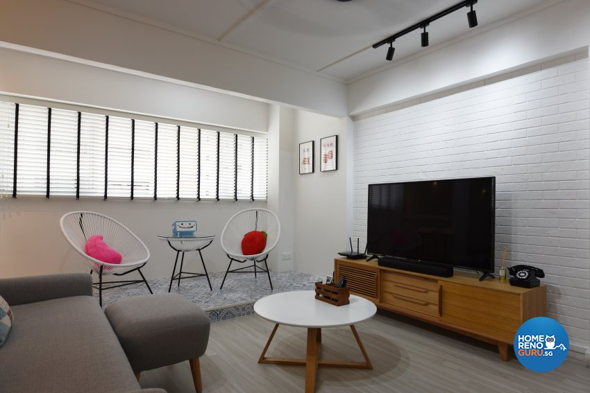 Scandinavian Design - Living Room - HDB 5 Room - Design by Starry Homestead Pte Ltd