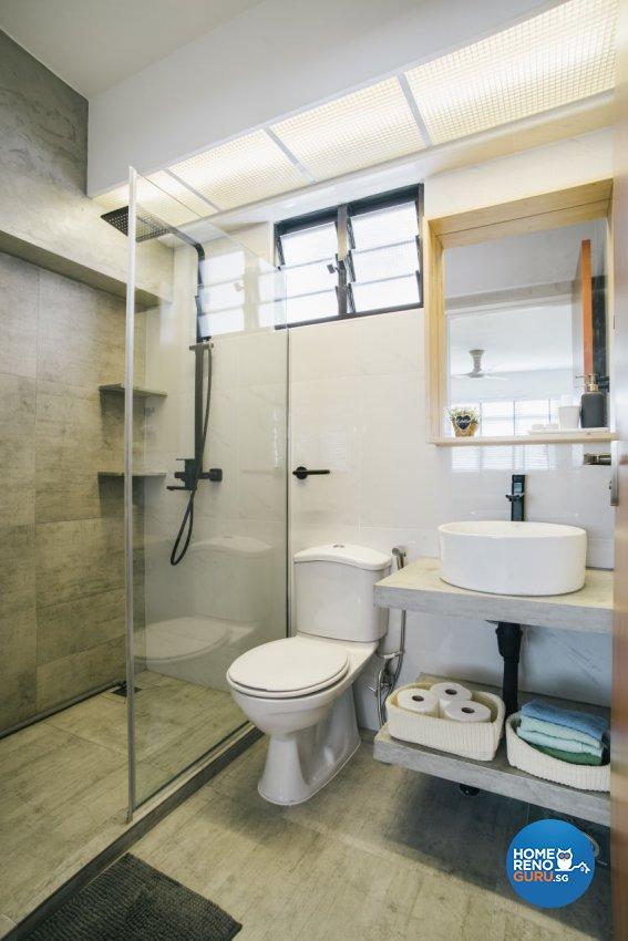 Contemporary, Minimalist, Scandinavian Design - Bathroom - HDB 5 Room - Design by Starry Homestead Pte Ltd