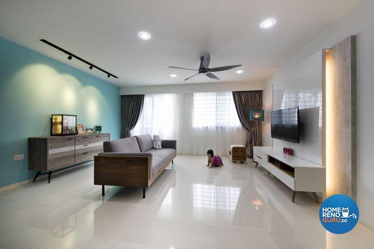 Modern, Scandinavian Design - Living Room - HDB 5 Room - Design by Starry Homestead Pte Ltd