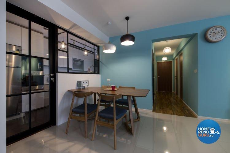Modern, Scandinavian Design - Dining Room - HDB 5 Room - Design by Starry Homestead Pte Ltd