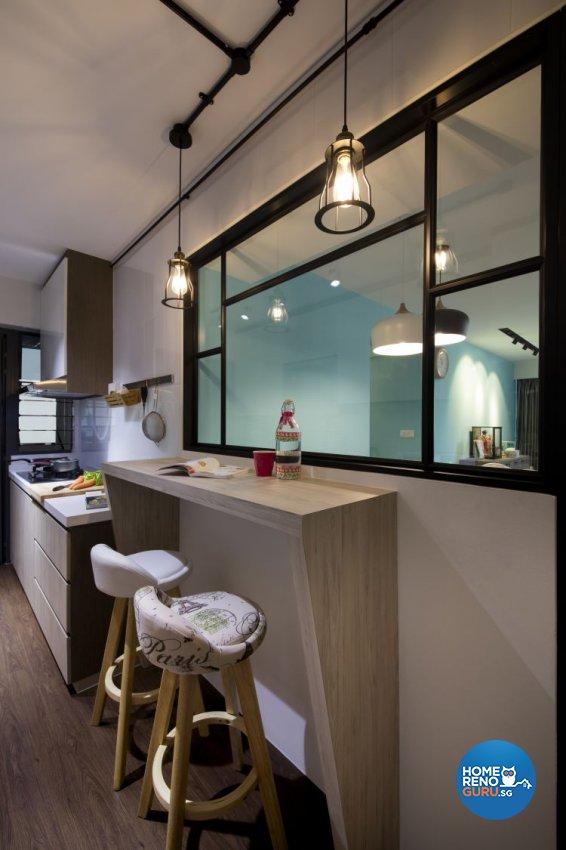 Modern, Scandinavian Design - Kitchen - HDB 5 Room - Design by Starry Homestead Pte Ltd