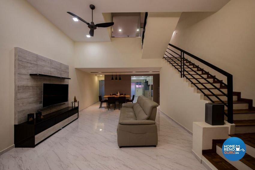 Minimalist, Scandinavian Design - Living Room - Landed House - Design by Starry Homestead Pte Ltd