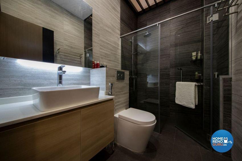 Minimalist, Scandinavian Design - Bathroom - Landed House - Design by Starry Homestead Pte Ltd