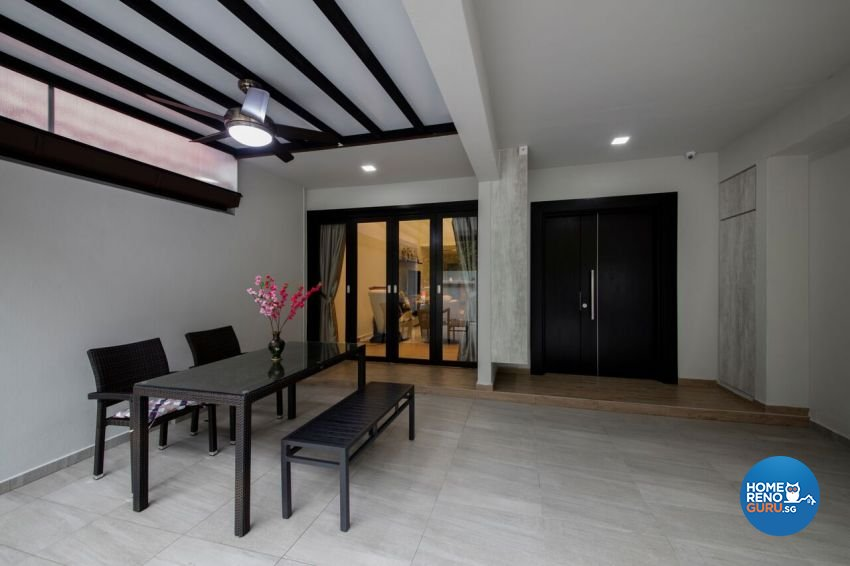 Minimalist, Scandinavian Design - Balcony - Landed House - Design by Starry Homestead Pte Ltd