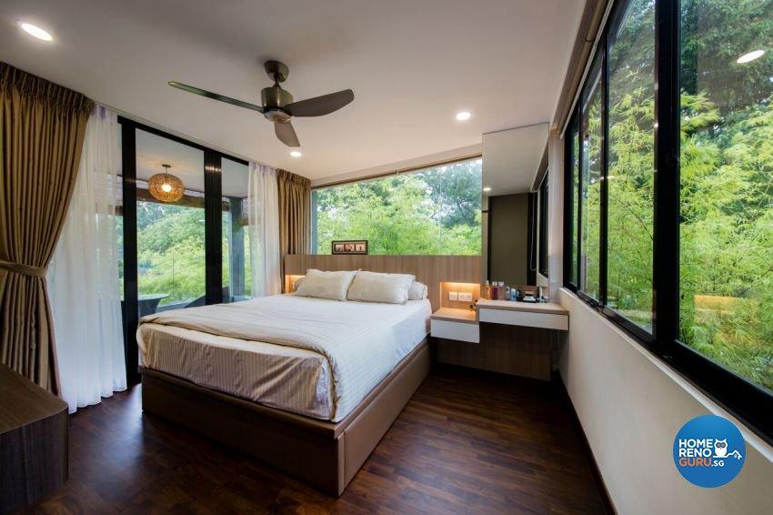 Contemporary, Resort Design - Bedroom - Landed House - Design by Starry Homestead Pte Ltd