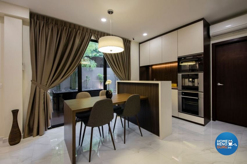 Contemporary, Resort Design - Dining Room - Landed House - Design by Starry Homestead Pte Ltd