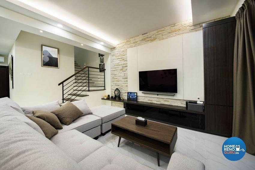 Contemporary, Resort Design - Living Room - Landed House - Design by Starry Homestead Pte Ltd