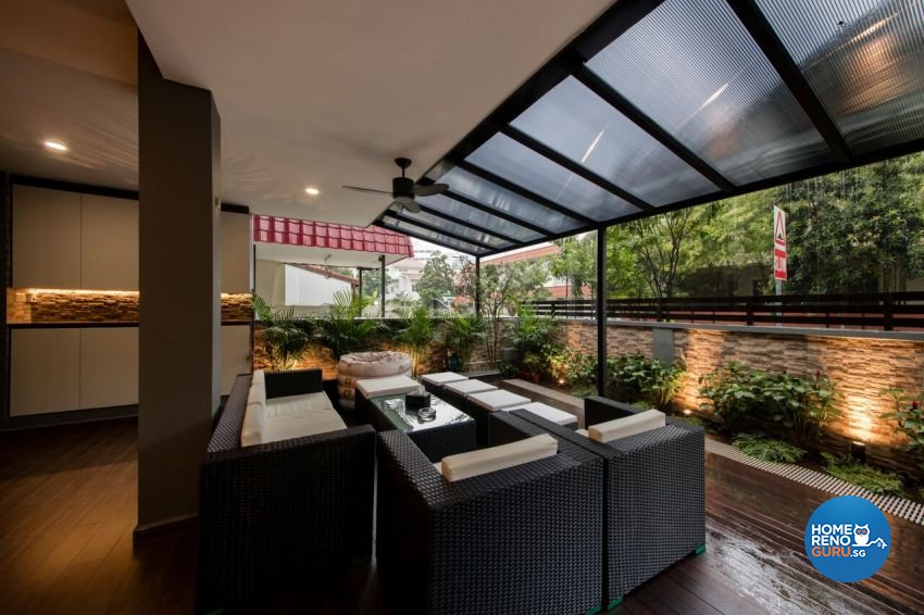 Contemporary, Resort Design - Balcony - Landed House - Design by Starry Homestead Pte Ltd
