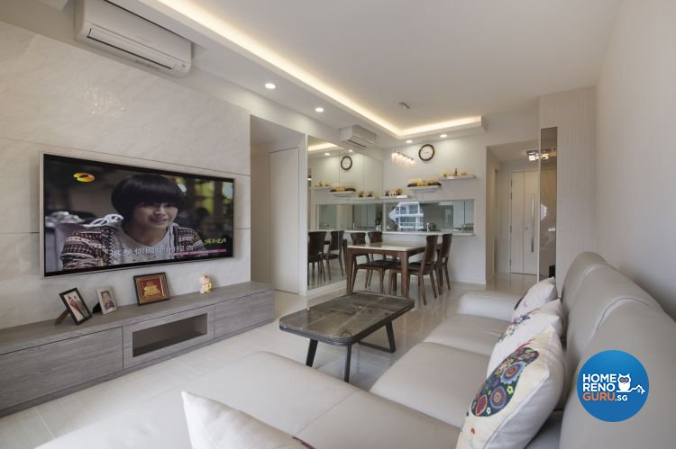 Minimalist, Modern Design - Living Room - HDB 4 Room - Design by Starry Homestead Pte Ltd